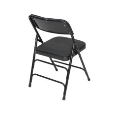 Black Padded Folding Chairs Bobby Knight Chair Throw Tri Fold Lawn Classic Series Fabric Quad Hinged
