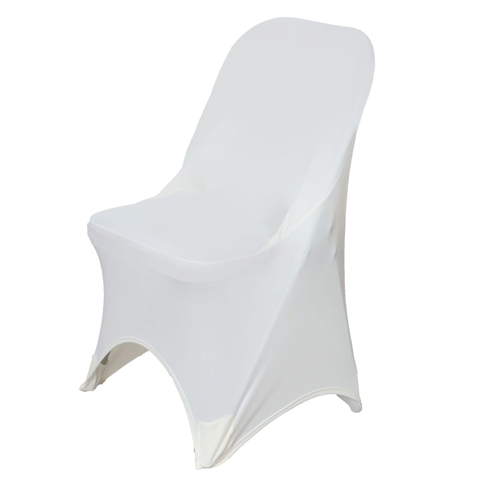 black chair covers ebay lounge for living room flexible love folding ivory spandex cover chairs each