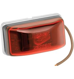 wesbar trailer lights wesbara 003239 red waterproof side marker clearance light with [ 1000 x 1000 Pixel ]