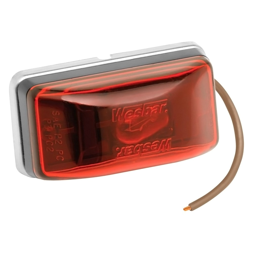 hight resolution of wesbar trailer lights wesbara 003239 red waterproof side marker clearance light with