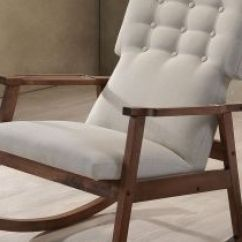 Nursing Chair Babies R Us Blue Velvet Armchair Nz Unbelievably Comfortable Rocking Midcentury Modern Fabric Upholstered Button Tufted