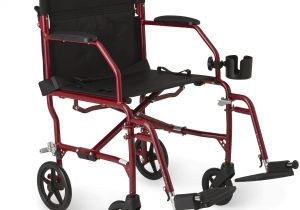 carex transport chair used hanging for sale walmart drive lightweight expedition medline ultralight wheelchair with 19 x 16 seat red