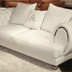 White Tufted Leather Sofa Leathercraft Craigslist Gray Zahara Silver Apartment Living Room Gallery Furniture