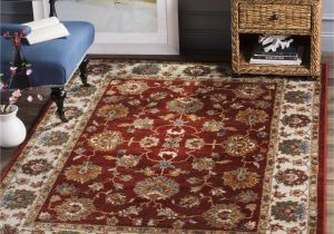 walmart rugs for living room colour schemes rooms with brown leather sofa area 8 x 10 8a safavieh summit red ivory rug 6 7 9
