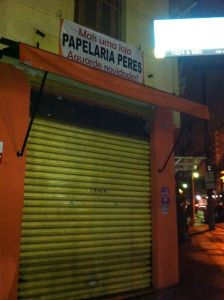 the suspected facade of what was once called the lua nova bar in Pinheiros, Sao Paulo