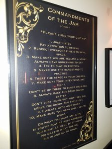 commandments of the jam at the moonshine