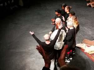 Brook actors taking a bow  Photo: ©Brad Spurgeon