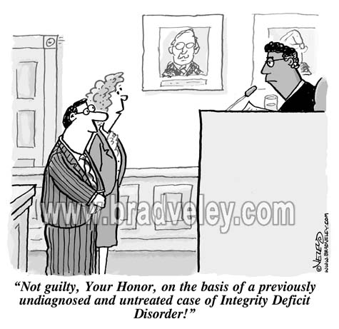 Image result for cartoon no integrity or ethics