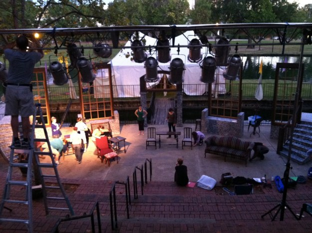 """This was the only picture of Finlay Park that I could find in my archives -- it's from a rehearsal of """"Pride and Prejudice"""" in 2012."""