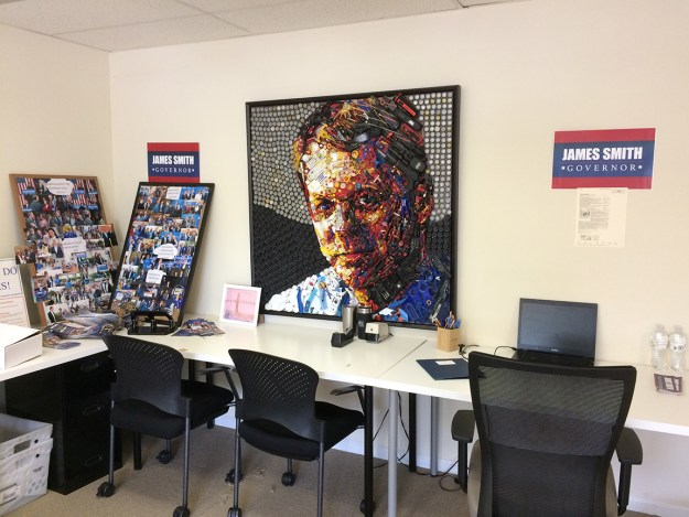 I dropped by Smith HQ this afternoon and the front room was empty -- everybody was out working. And they did a great job!
