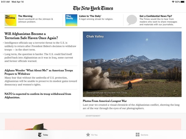 NYT top stories