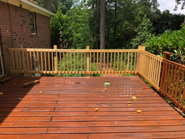 We got the deck job done on Saturday!