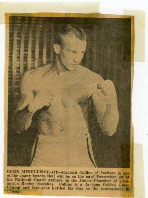 Rayford Collins in the early 60s during his own boxing career, long before I knew him.