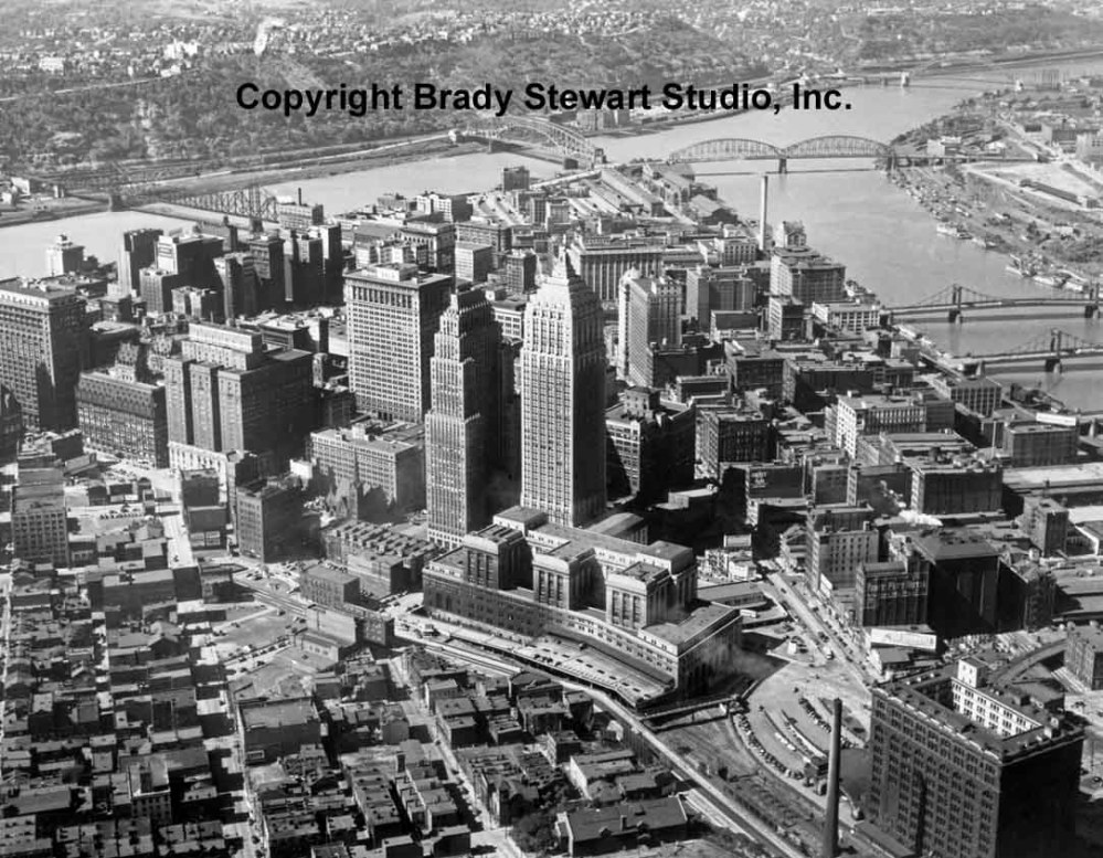 Historical Pittsburgh Photographs of the Point-Area Before Gateway Center (1/6)