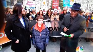 My Mom, me and Al Roker on the Today Show