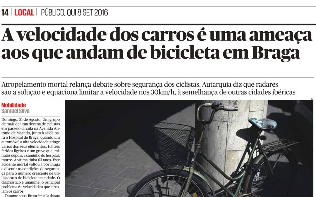 Reportagem no Público destaca o perigo da velocidade excessiva em Braga