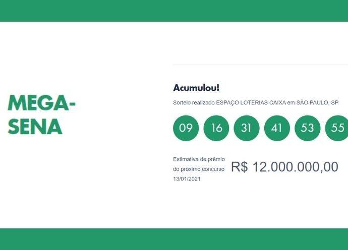 Mega-Sena acumula mas moradores de Bragança e região acertam na quadra