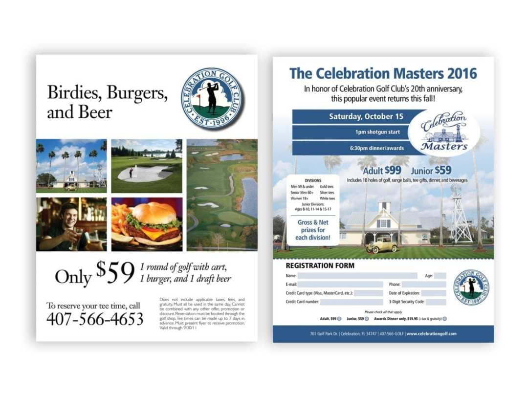 Celebration Golf Club Registration and Promotion
