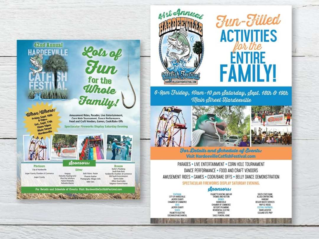 Promotional Materials for Hardeeville SC Catfish Festival