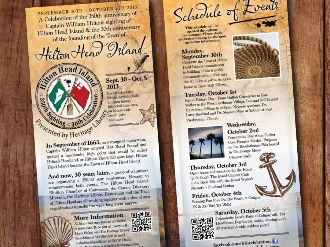 Rack Card Hilton Head Island 30th Celebration