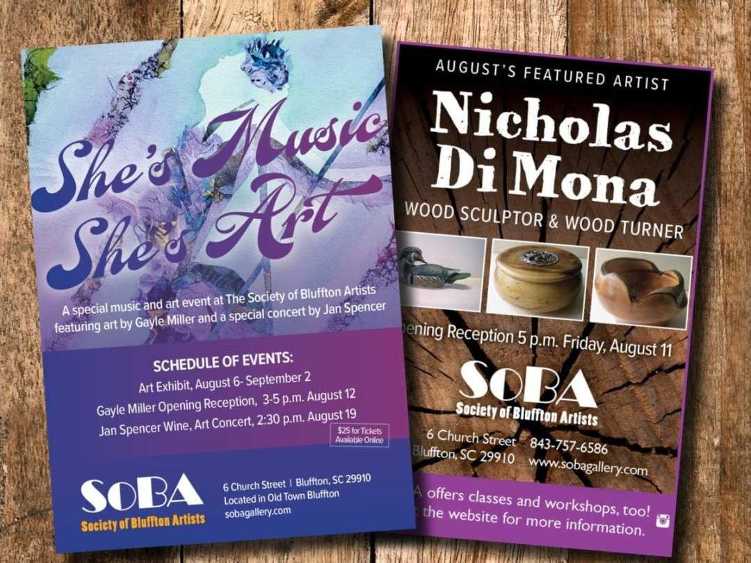 SoBA Art Exhibit Promotional Materials