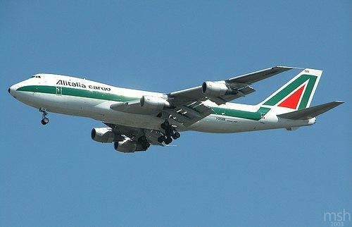 Un vecchio B747 Alitalia