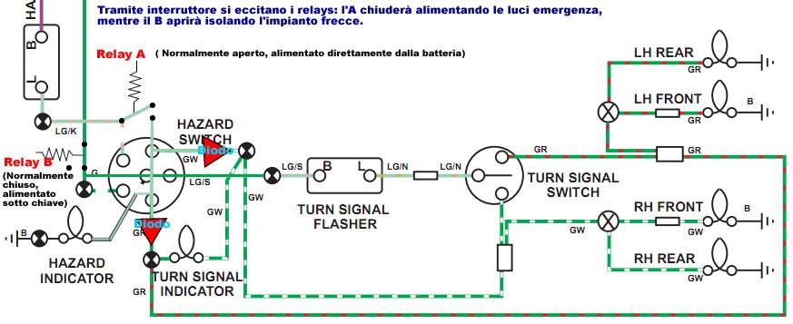 Schema Elettrico Frecce Moto : Veicoli vari part