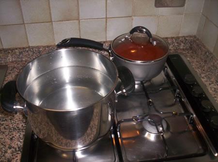 L'acqua per cuocere gli ziti