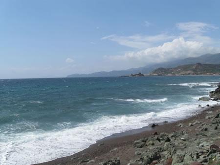 Una veduta della costa a sud di Alghero