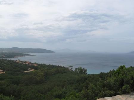Veduta panoramica della zona di Cala Gonone