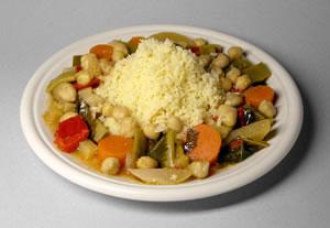 Couscous con vegetali e ceci