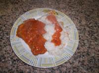 Ed ecco l'ossobuco pronto nel piatto