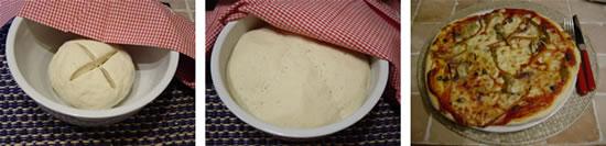 La preparazione della pasta per pizza