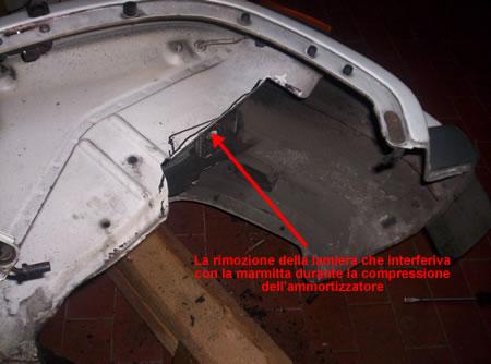 Il telaio della Vespa 50 PKS modificato