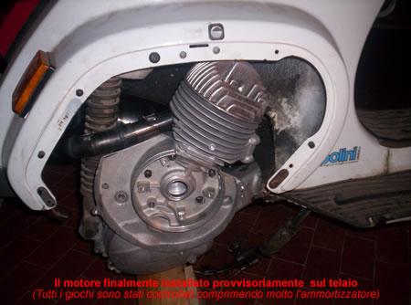 Il motore installato sulla Vespa 50