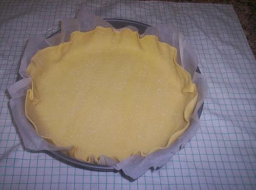 La pasta brisée nella tortiera