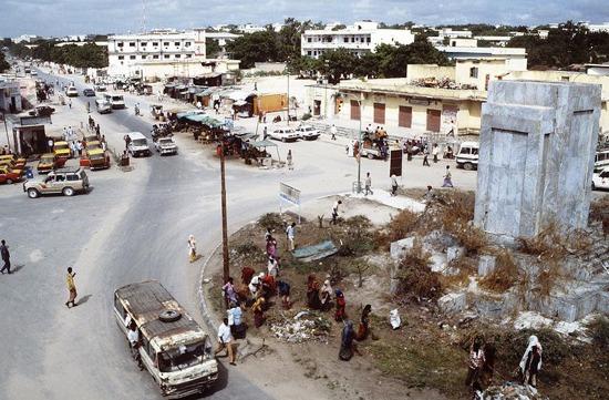 Una veduta di Mogadiscio negli anni 90