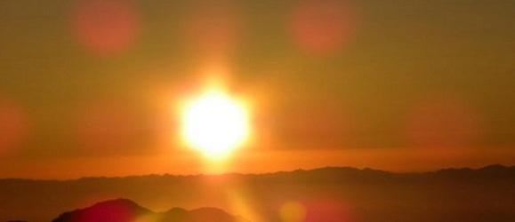 Lever de soleil au mont Sinaï, photo Guylène Briez
