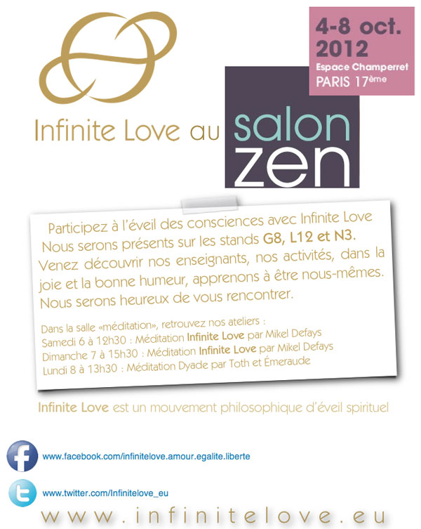 Emailing salon ZEN 2012, Infinite Love