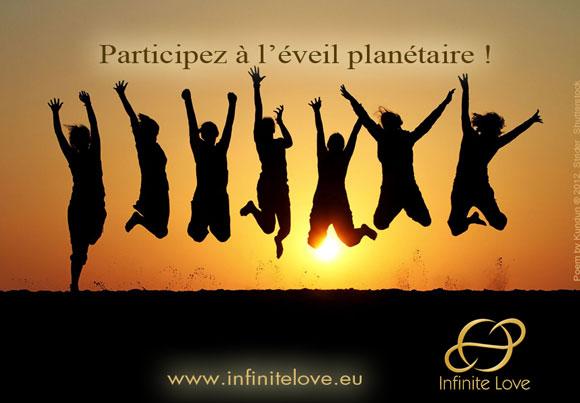 Carte postale Infinite Love, participez à l'éveil planétaire