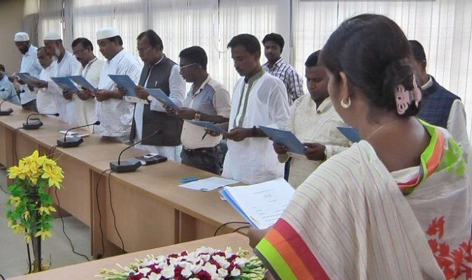 Brahmanbaria_UP Chairman Oath 1