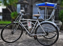 Basically, the 'padyak' is a bicycle with a sidecar for passengers. In some parts of the Philippines, Manila for example, this mode of transport is called a 'pedicab'.