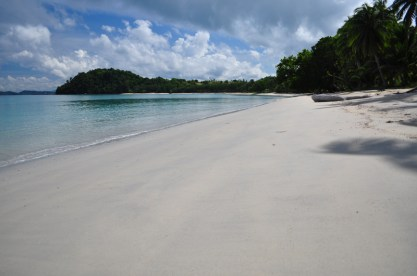 Walking on Tangdan's powdery off-white-close-to-beige sand makes you miss...