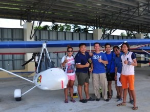 Group photo with our patient ultralight plane pilot, Sir Iking of Mindanao Saga Flying Club in Mati City.