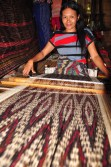 The T'nalak is then woven, usually in tones of red, brown and black, with the end product requiring months of work to produce a single, unique weaving.