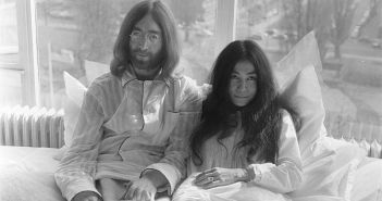 "John and Yoko ""bed-in."" Image: public domain via Nationaal Archief"