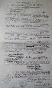 1. ACT OF FEBRUARY 6, 1907, DECLARATION FOR PENSIONChrist Roessler, 23 March 1907
