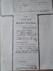 8. United States Pension Agency, Pensioner Dropped, Christ Roessler, Certificate No. 862.566, died 24 March 1909, dated 25 March 1909.