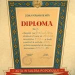 Diploma de absolvire din anul 1960