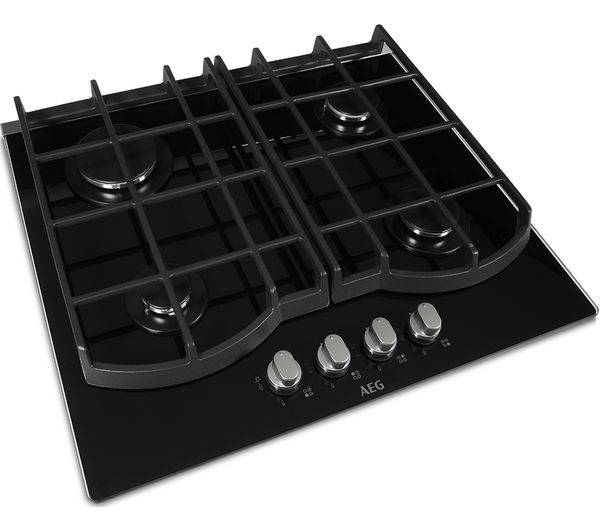 professional kitchen accessories cabinets drawers buy aeg hg653431nb gas hob - black | free delivery currys